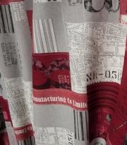 Ткань Maps - 8 granate