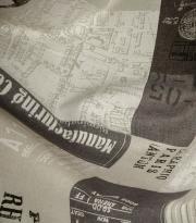 Ткань Maps - 17 marron